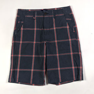 American Eagle Longboard Size 31 Navy Plaid Shorts